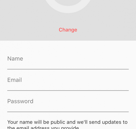Registration App Screenshot